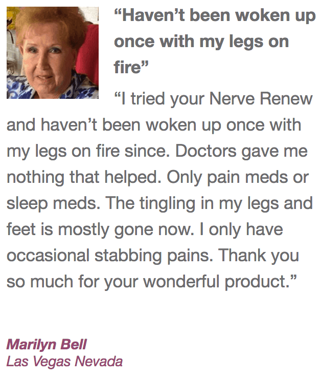 Customer review of Neuropathy Support Formula by the Neuropathy Treatment Group