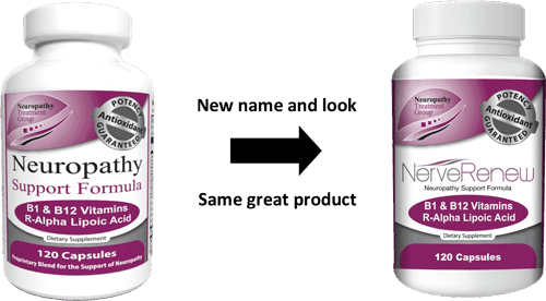 A bottle of the Neuropathy Support Formula by The Neuropathy Treatment Group