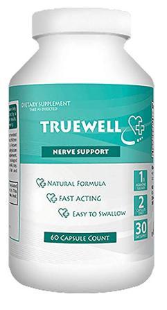 Truewell nerve support formula 60 capsule bottle